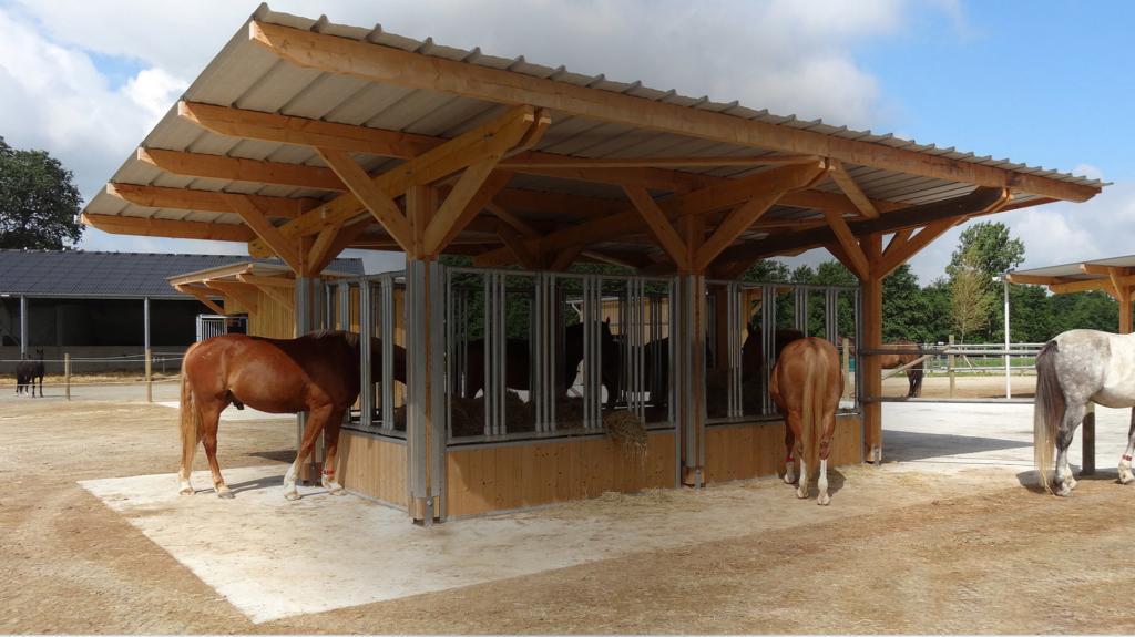 Cornadis ou râtelier à foin chevaux